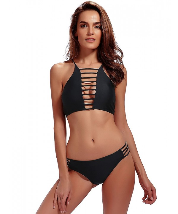 Bikinis Bathing Strappy Padding Swimsuit