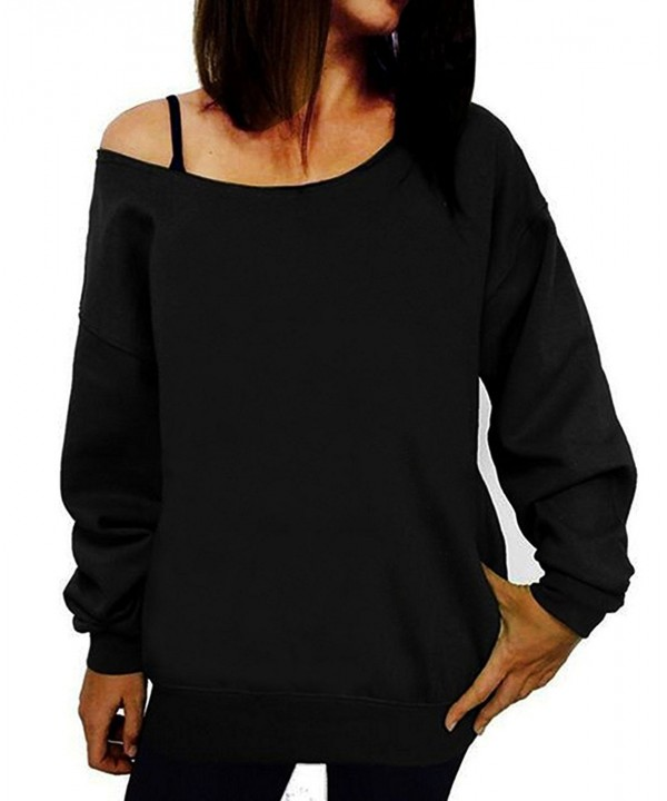 Guandiif Sweatshirts Printed Shoulder Pullover