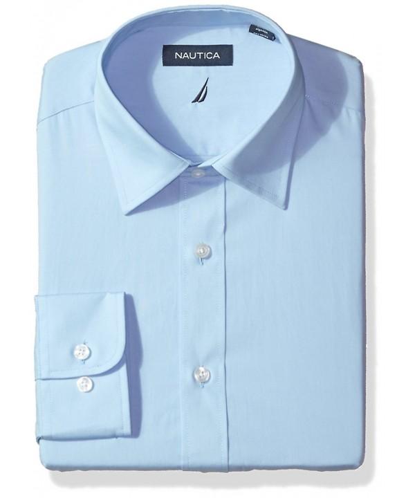 3c59222a Men's Classic Performance Solid Poplin Spread Collar Dress Shirt ...