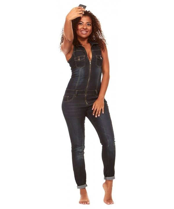 V I P JEANS Womens Jumpsuit Jeans