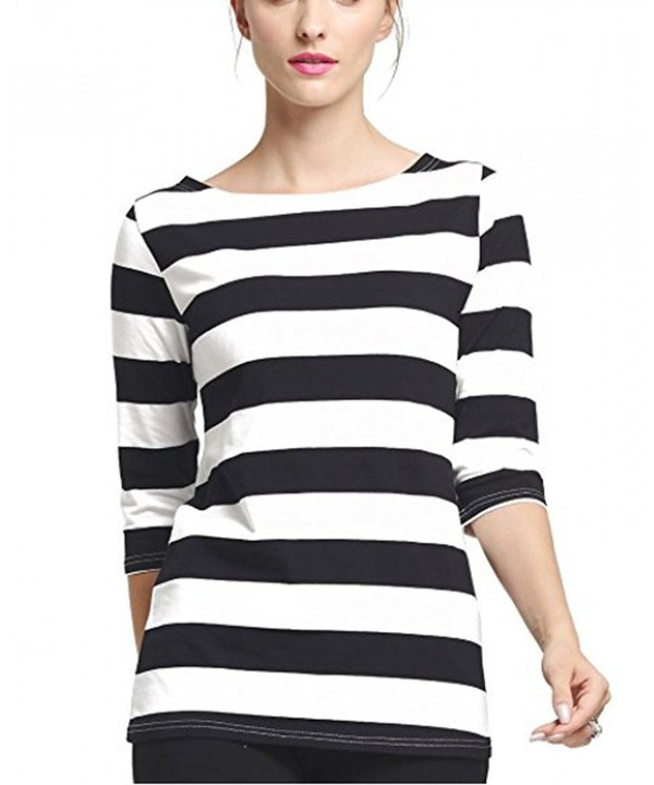 FELACIA Womens Elbow Sleeves Striped