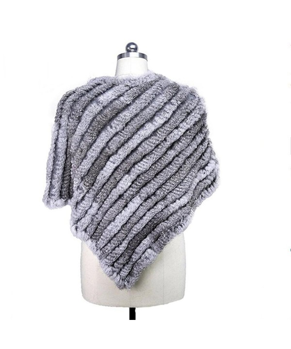 MEEFUR Knitted Ponchos OneSize Naturalgrey