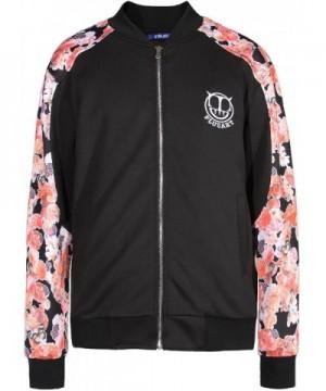 Plusart Floral Casual Varsity Jacket