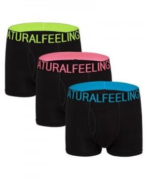 Black Boxer Briefs Cotton Underwear