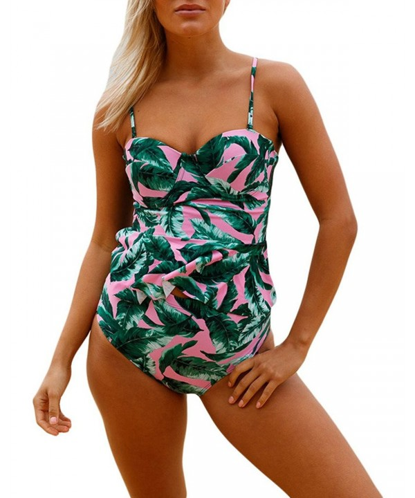 Shawhuwa Womens Flounce Tankini Swimsuit
