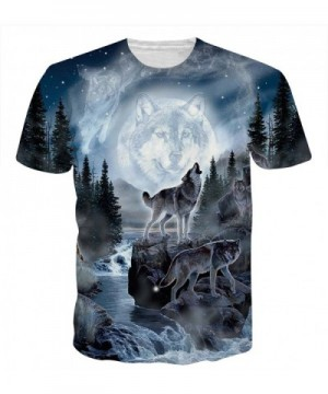 HWHColor Printed Wolves T Shirt Graphic