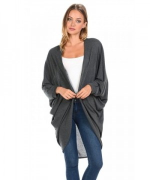 iconic luxe Batwings Cardigan Charcoal