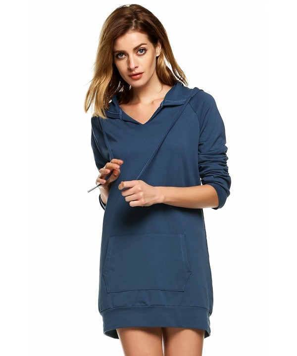 ELESOL Womens Crewneck Sweatshirt Sapphire