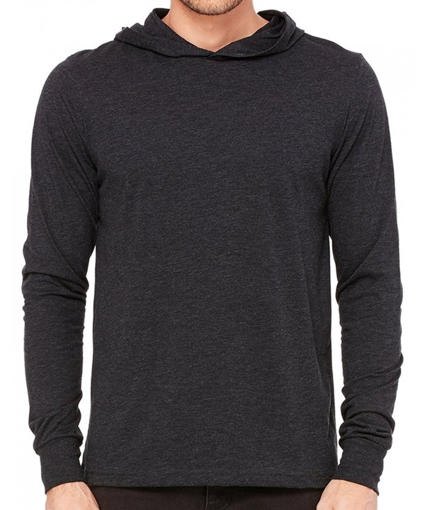 Lightweight Sleeve Hoodie Charcoal Triblend
