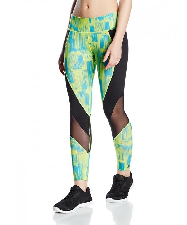 Zumba Womens Hyper Leggings Green