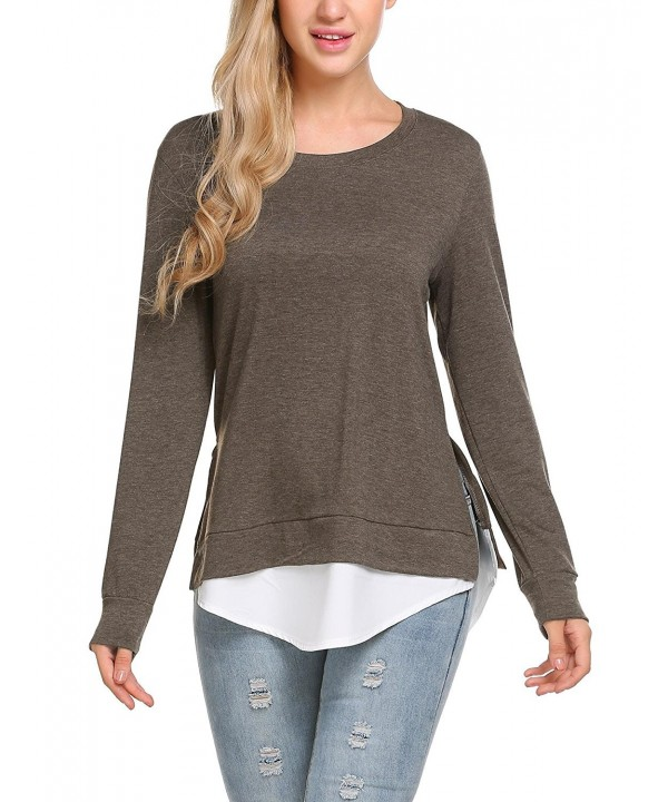 ELESOL Womens Sleeve Oversized Pullover
