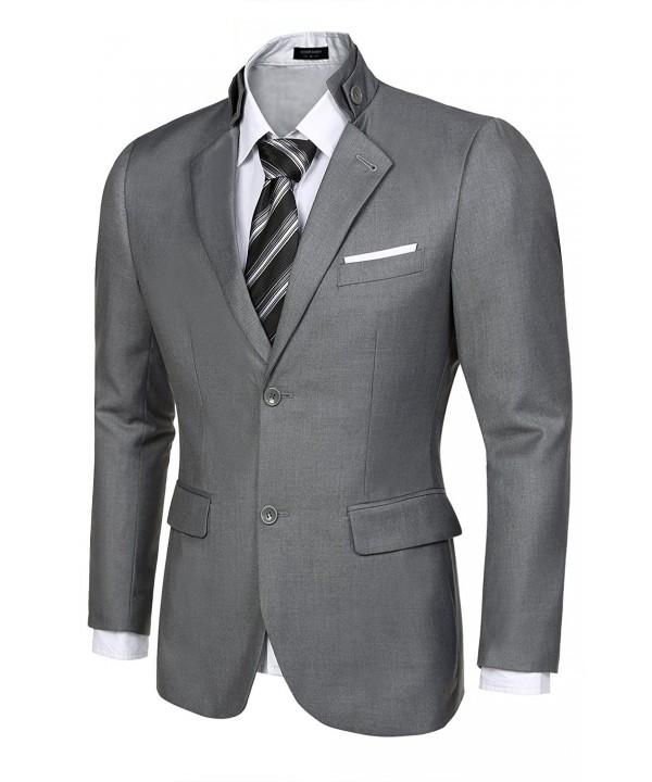 JINIDU Stylish Two Button Business Blazers