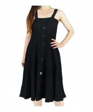 YSJ Knitted Dresses Pleated Suspender
