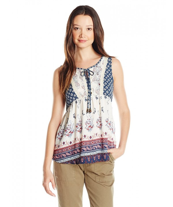 Jolt Sleeveless Georgette Printed Cornflower