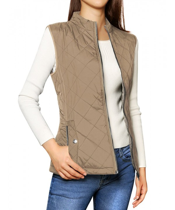 Allegra Womens Collar Quilted Padded