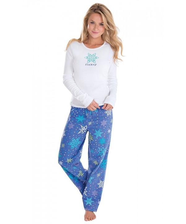 PajamaGram Womens Flannel Pajamas Long Sleeved