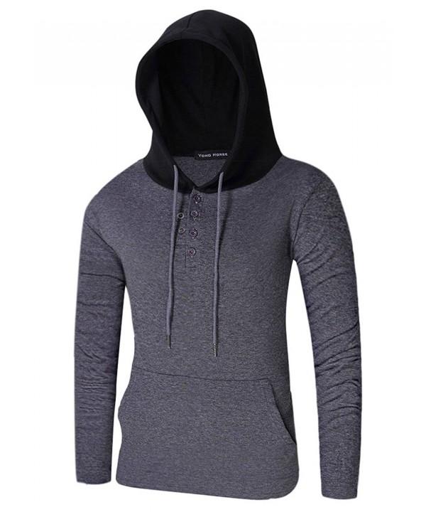 Hoodies Contrast Lightweight Pullover Sweatshirts