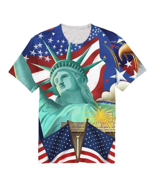 FAITOVE Goddess American Patriots T Shirt