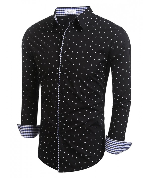 Misakia Polka Sleeve Dress Shirt