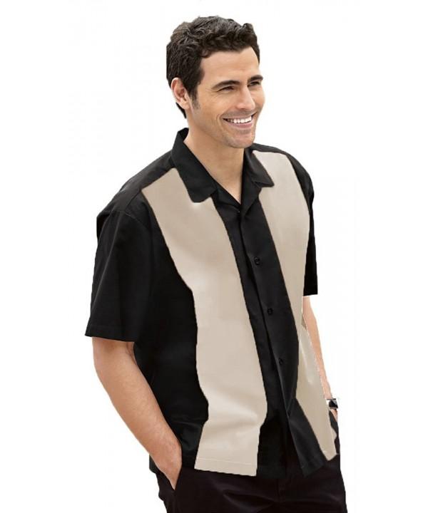 Retro Bowling Shirt Black Light