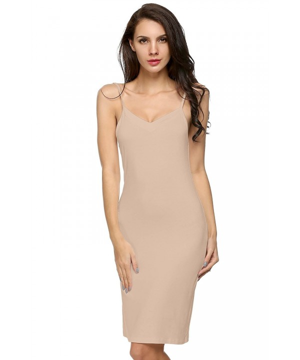 GBoon Sleeveless Spaghetti Stretchy Skincolor