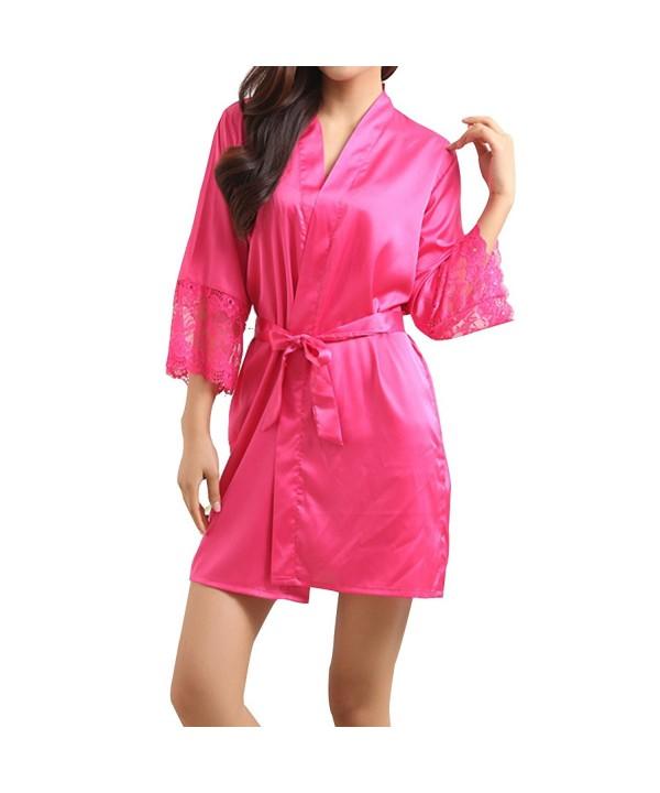 LAPAYA Womens Bathrobes Bridesmaids Sleepwear