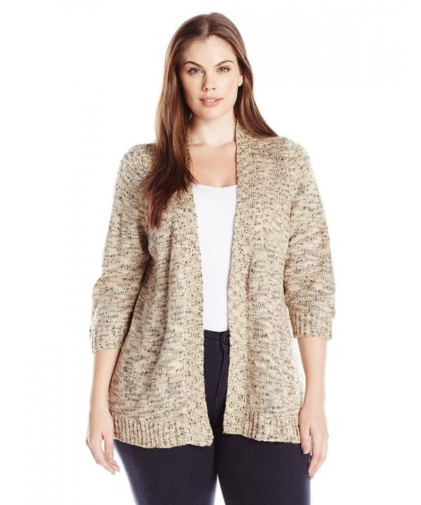 Notations Womens Petite Sweater Cardigan