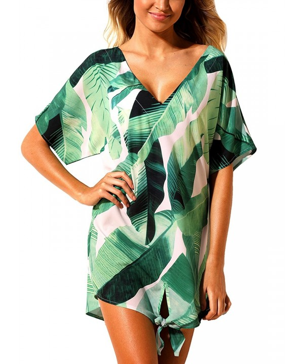 Podlily Sleeve Printed Beachwear Swimwear
