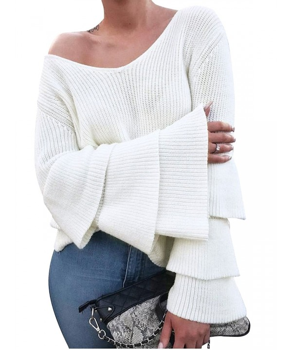 Glamaker Womens Pullover Sweater Sleeves