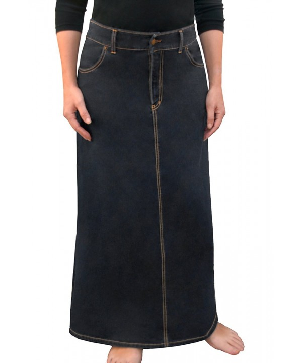 Womens Modest Line Denim Stonewash