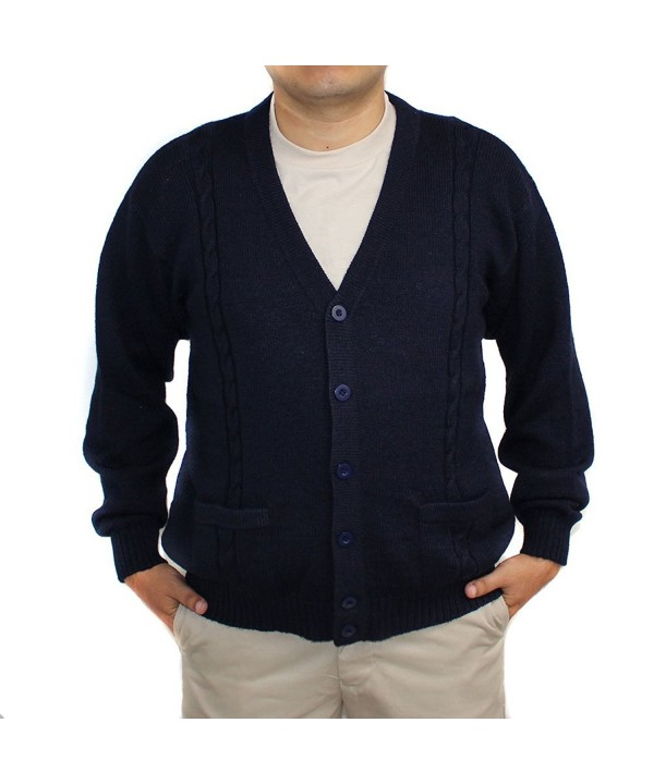 ALPACA CARDIGAN JERSEY buttons Pockets