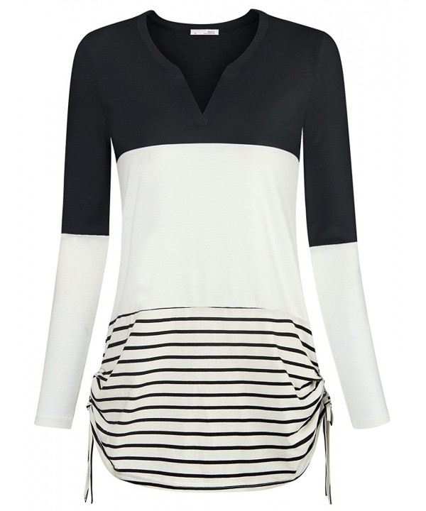 Messic Womens Casual Striped Stretch