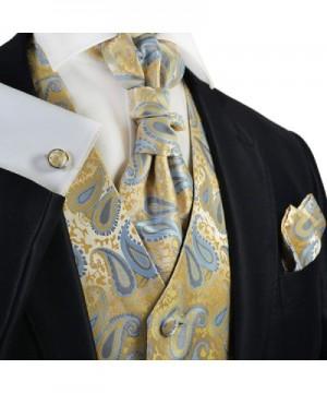 Mimosa Wedding Cravat Pocket Cufflinks