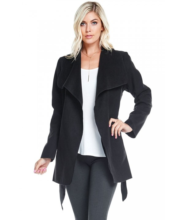 Ambiance Womens Ultra Sleek Trench