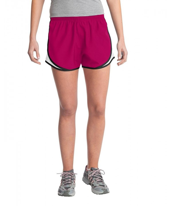 Sport Tek Womens Cadence Short Raspberry