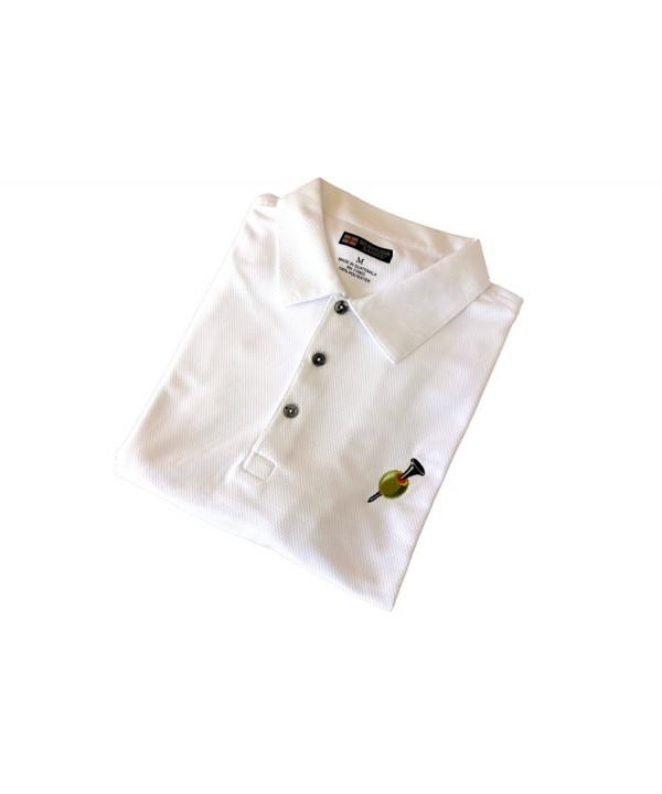 Golfoholics Martini Moisture Wicking Shirt White