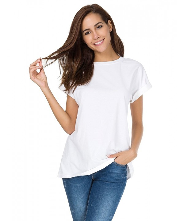 MSHING Womens Simple T shirt Summer