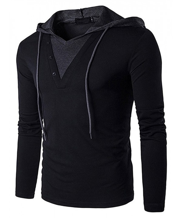 Hengta Casual Sleeve T Shirt Hooded