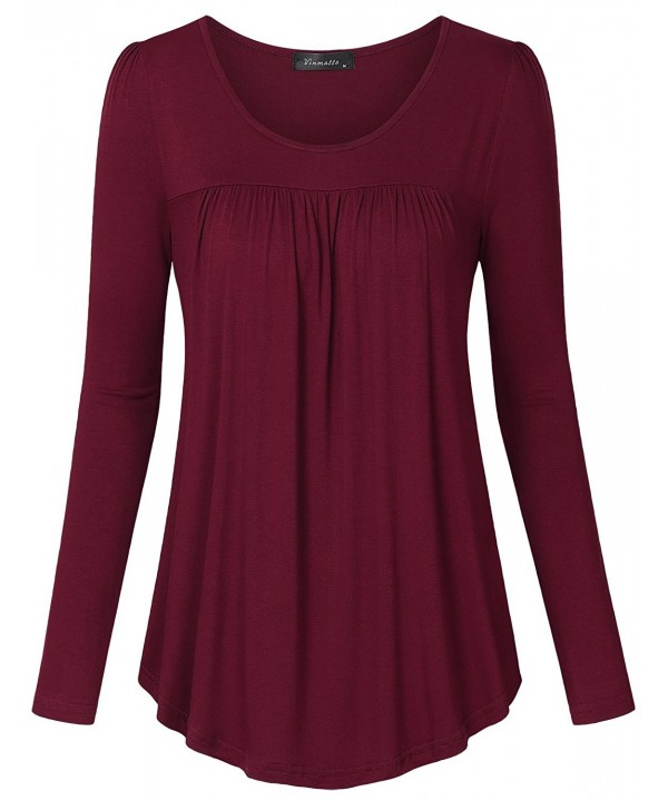 Vinmatto Womens Sleeve Pleated C Wine