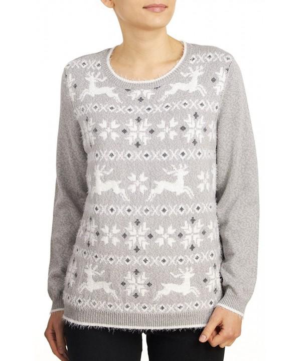 Alfred Dunner Reindeer Fairisle Sweater
