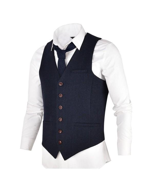VOBOOM Herringbone Tweed Premium Waistcoat