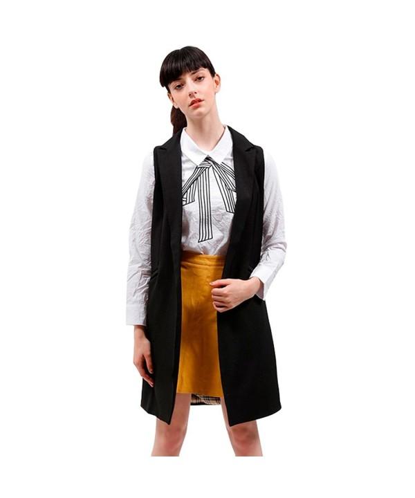 BELLA PHILOSOPHY outerwear Turn down Sleeveless