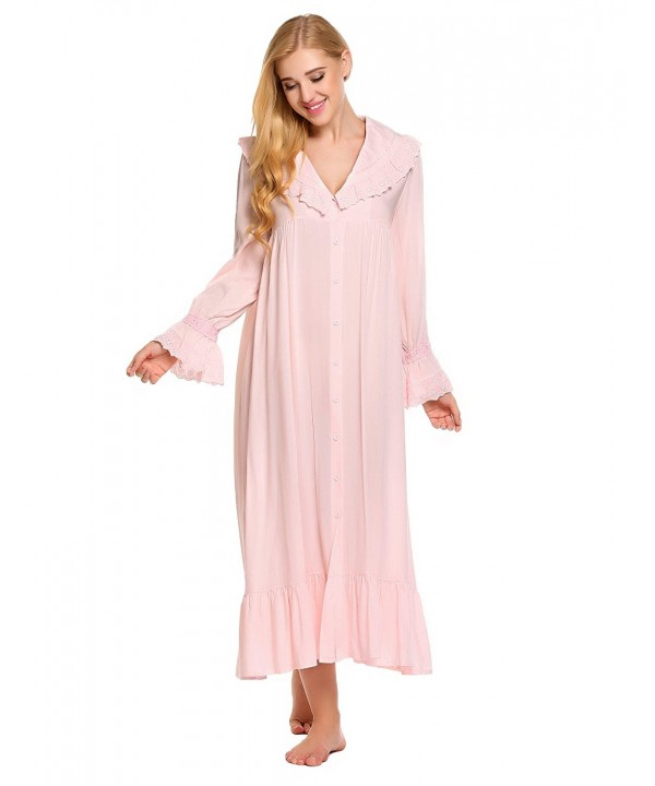 Ekouaer Victorian Nightgown Cotton Sleepwear