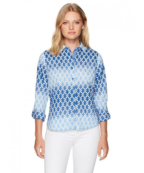 Caribbean Joe Womens Print Shirt