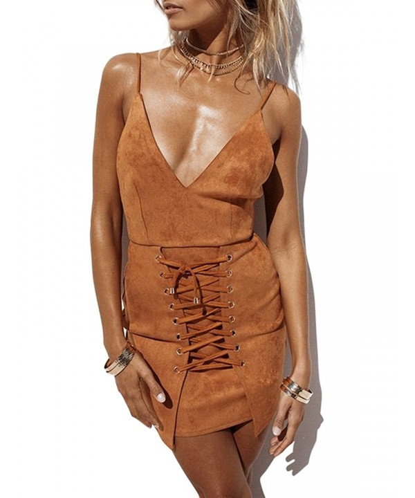 VWIWV Bodycon Backless Sleeveless Fabric