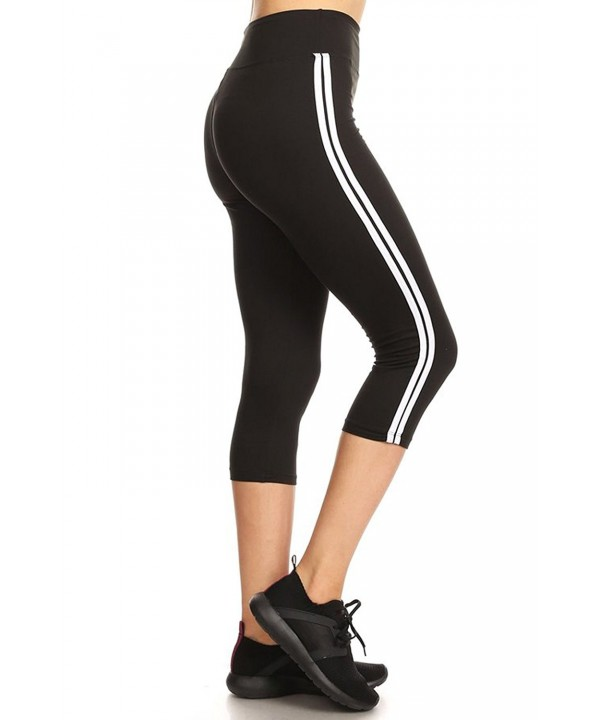 Leggings Mania Cropped Striped Waistband