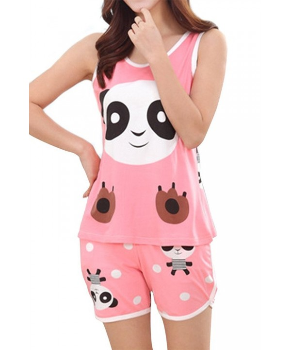 Lasher Womens Sleepwear Cartoon Pajamas