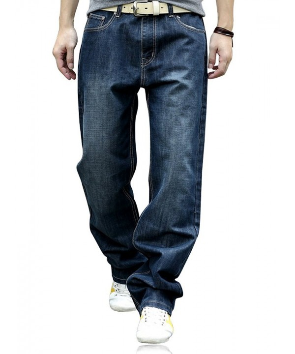 YOYEAH Fashion Loose Straight Leg Jeans