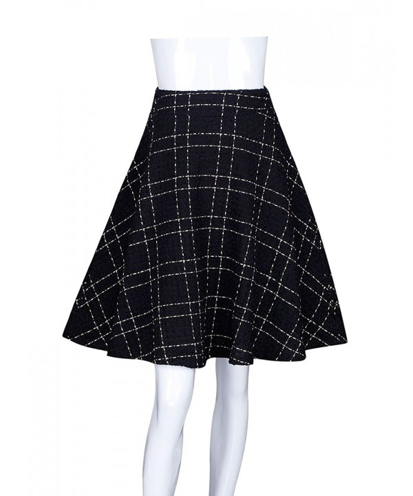 ADAMARIS Womens Waist Plaid Line