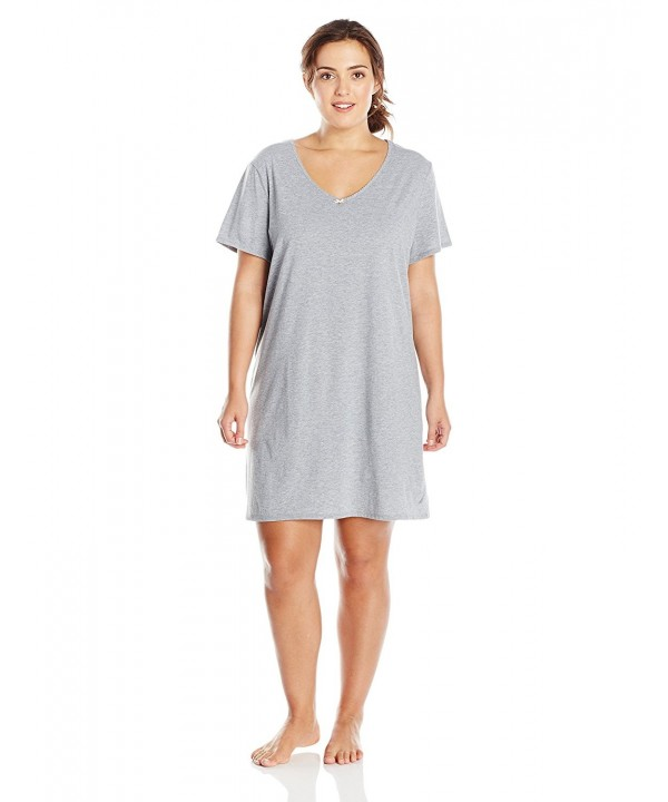 Nautica Sleepwear Womens Sleepshirt Heather
